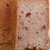 ストロベリーとクリームチーズの米粉シフォンケーキ