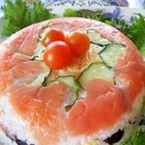 おすしでケーキ☆カラフル押し寿司