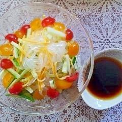 減塩!食べる直前にタレをかける春雨サラダ