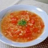 レンズ豆と押麦の食べるスープ