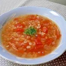 レンズ豆と押麦のスープ