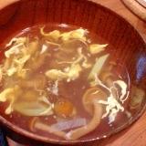 なめこと長ネギの中華風スープ