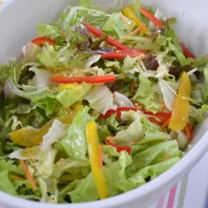 *赤黄パプリカと緑のサラダ*