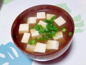 麦みそで豆腐の味噌汁++