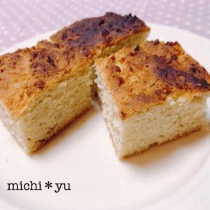 ボウルも計りも不要 とても簡単♪米粉のバナナケーキ