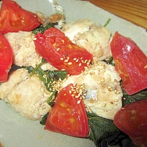 トマト鯖モロヘイヤ酢漬け