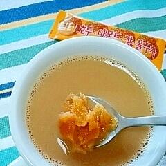 ホッと☆五味茶グリーンマンゴーきなこカフェオレ♪