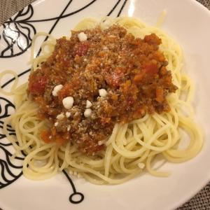 一歳半の子供と作る!スパゲティボロネーゼ