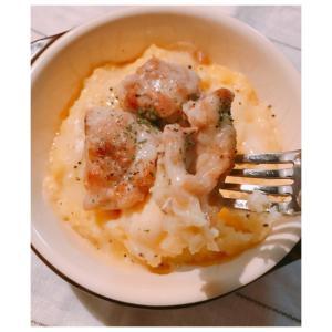 鶏モモ肉のポテトサラダグラタン♪