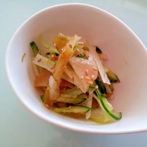 ザーサイときゅうりとセロリの中華サラダ