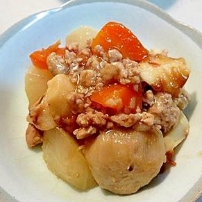 簡単!おふくろの味♪里芋と大根のそぼろ煮