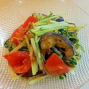 夏にぴったり!トマトと水菜サラダ