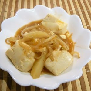じゃがいもともやしが入った、肉なし麻婆豆腐