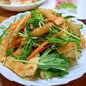 水菜パリパリお揚げサラダ