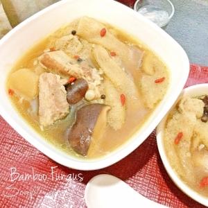 ☆★キヌガサダケとスペアリブの煮込みスープ♪★☆