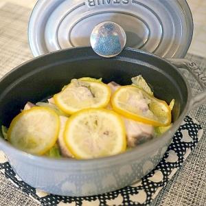白菜とブリの柚子蒸し