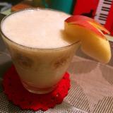 すだち薫る林檎とバナナのヨーグルトスムージー