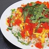 和の味! 鮭とトビコのちらし寿司