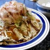 フライパンで広島風お好み焼き