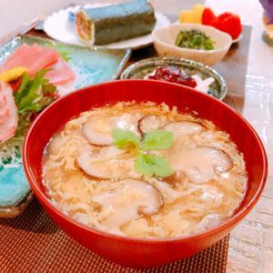 椎茸とふわふわ卵のお吸い物☆