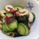 海藻ミックスとちくわのサラダ