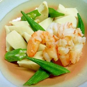 ☆高野豆腐とむきエビの白だし煮☆