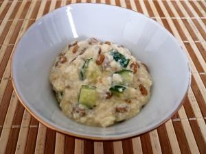 納豆ときゅうりの白和え