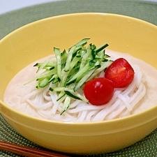純米めんの豆乳ごまスープ