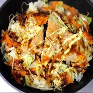 鮭の味噌ちゃんちゃん焼き♩