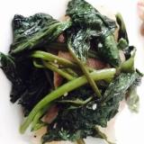 空芯菜と豚バラ肉のガーリック炒め