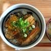 秋刀魚と茄子の蒲焼丼