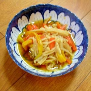 金針菜とえのきと人参の甘辛煮