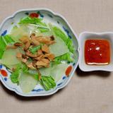 冬瓜(とうがん)ときのこと水菜のサラダ
