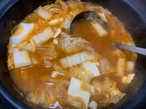 キムチ風豆腐チゲ