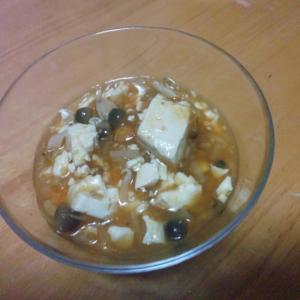 ヘルシーで辛くない麻婆豆腐風煮物