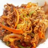 牛肉と野菜のプルコギ風味噌煮込み