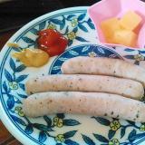バジルソーセージ&チーズのおつまみプレート