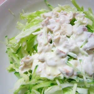 水切りヨーグルトのナッツサラダ