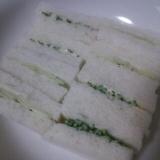 軽食・おやつに!2種のきゅうりサンドイッチ