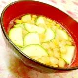 ❤ズッキーニとコーンの玉葱スープ❤