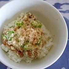 オクラ納豆豆腐丼