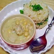 ふっくら大豆とチキンのフェジョン