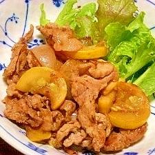 ズッキーニと玉葱☆豚肉の生姜焼き