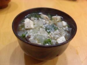 徳島県の料理 そばごめ雑炊