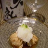 日本酒がすすむ、鱧の山椒煮、冷やし小鉢