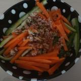 納豆肉味噌サラダ