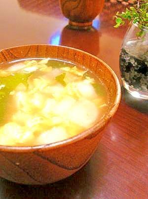 大根入り♪たまごスープ。