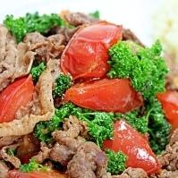 牛肉とトマトのパセリ炒め★マッシュポテトを添えて