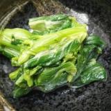 チンゲン菜花の辛子マヨ和え