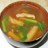 小松菜としいたけの味噌汁